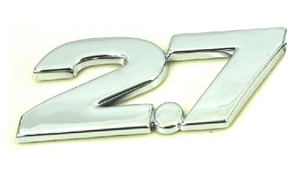 2.7 emblem ABS chrome plated car emblem