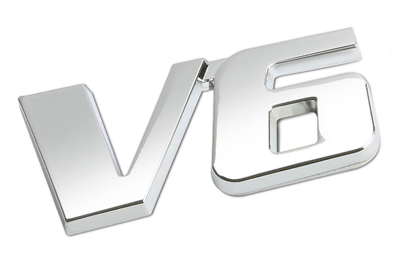 V6 GM OEM emblem ABS Silver anodized color car emblem