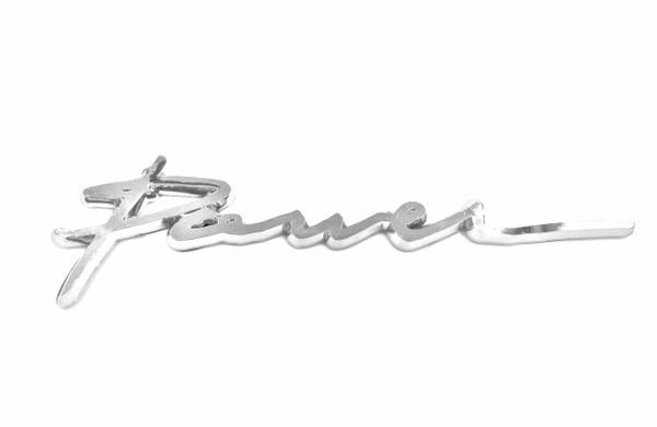 Power cursive car truck suv motorcycle emblem chrome plated