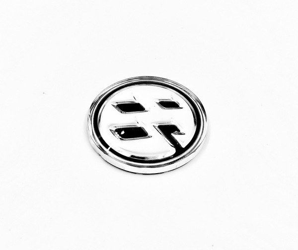 86 Fender Emblem (CHROME/BLACK)