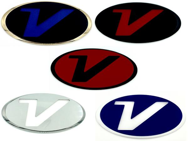 """Veloster """"V"""" Badges (100+ Colors)"""