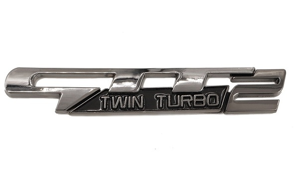 GTT2 Twin Turbo Emblem 3pc Design (Black Chrome)
