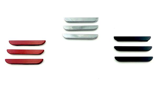 Model 3 Accent Emblem Set 3pc METAL (3 Colors)