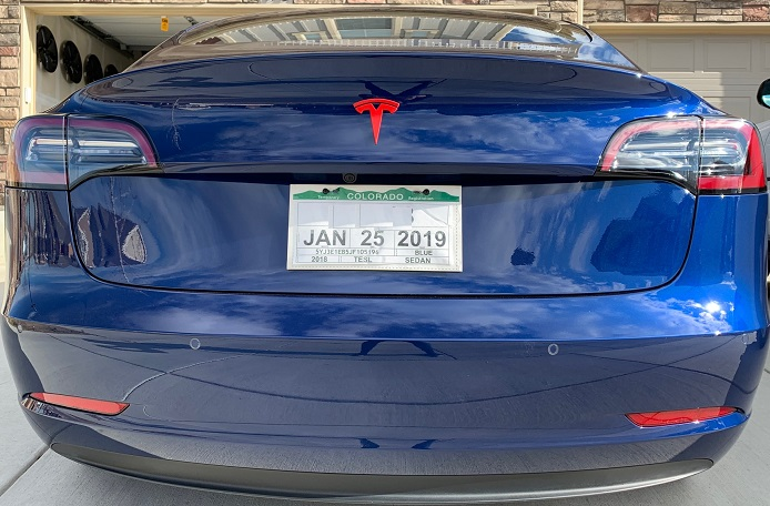 T Badge Model 3 REAR (Custom Colors)