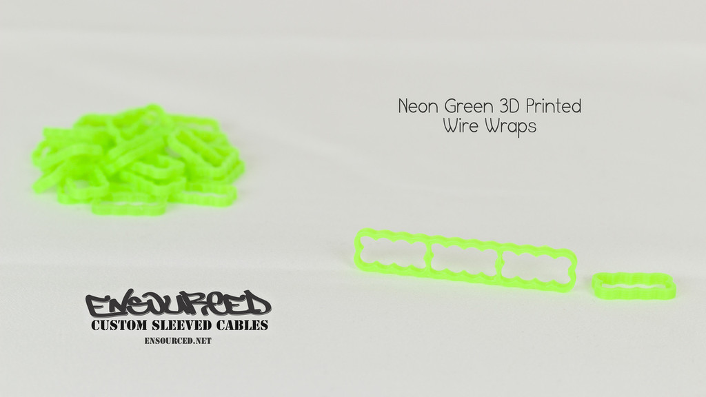Neon Green 3D Printed Wire Wrap