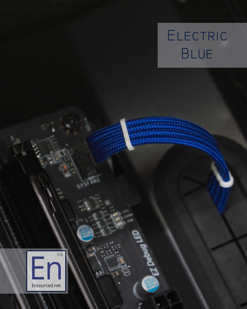 Electric Blue Paracord Sleeved Fan Extension