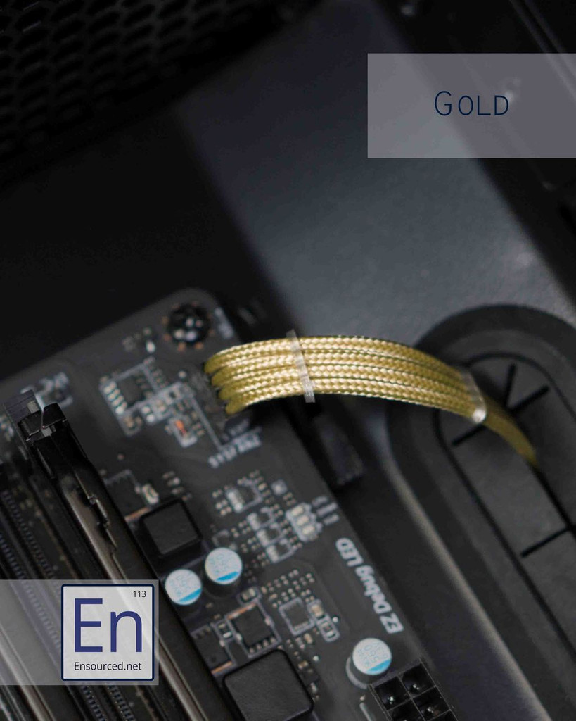 Gold Paracord Sleeved Fan Extension