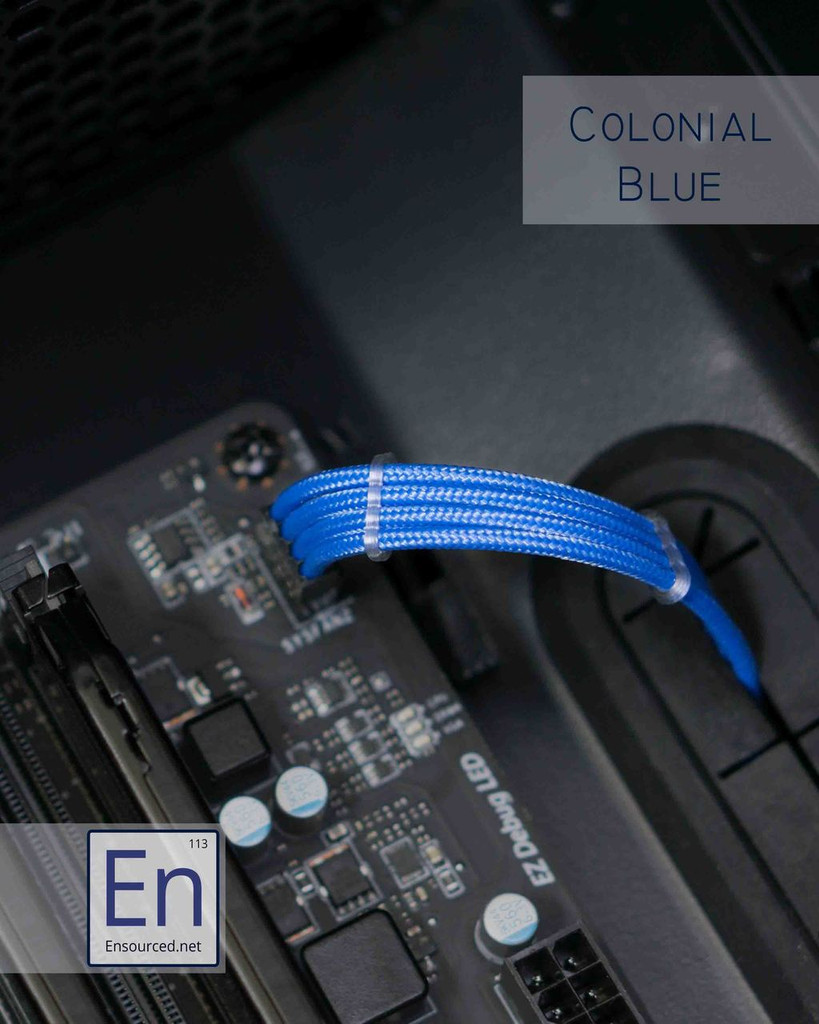 Colonial Blue Paracord Sleeved Fan Extension