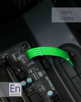 Neon Green Paracord Sleeved Fan Extension