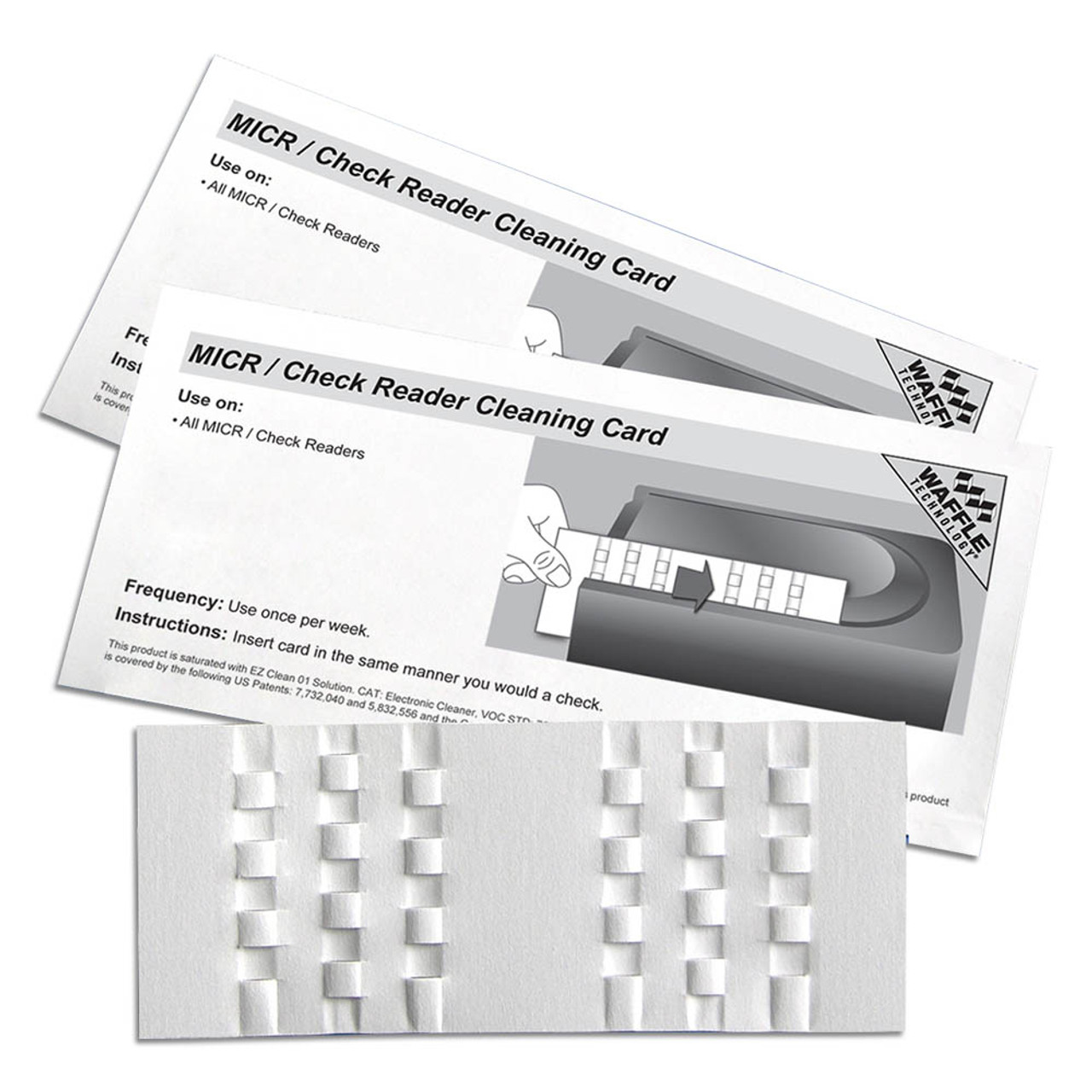 KICTeam KW3-CRB15 Waffletechnology MICR/Check Reader Cleaning Card