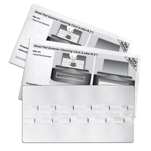 "KICTeam KW3-SFS1B15WS Waffletechnology 8.5"" Sheet Fed Scanner Cleaning Card"