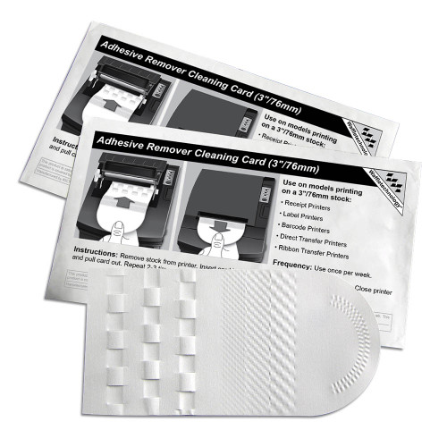 """KICTeam KW3-T36B15A Waffletechnology 3""""/76mm Thermal Printer Cleaning Card"""