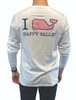 Navy Vineyard Vines I WHALE Happy Valley Long Sleeve Tee