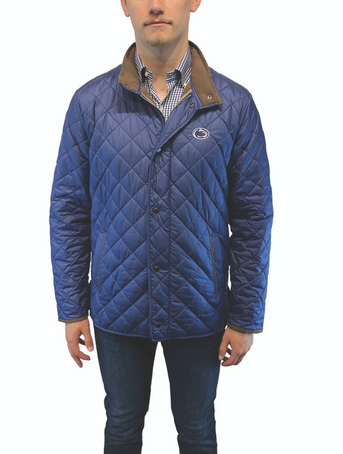 Peter Millar Suffolk Quilted Coat Penn State Navy
