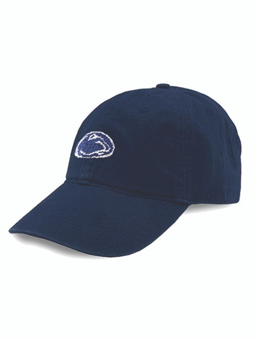 Penn State Needlepoint Hat Smathers & Branson- Navy