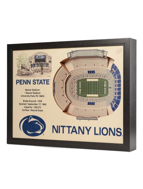 25 Layer Penn State Beaver Stadium 3D Wall Art
