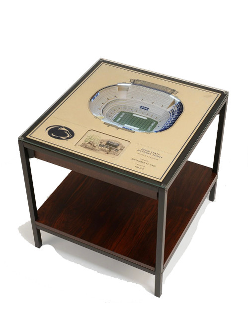 25 Layer Penn State Beaver Stadium Replica Lighted End Table