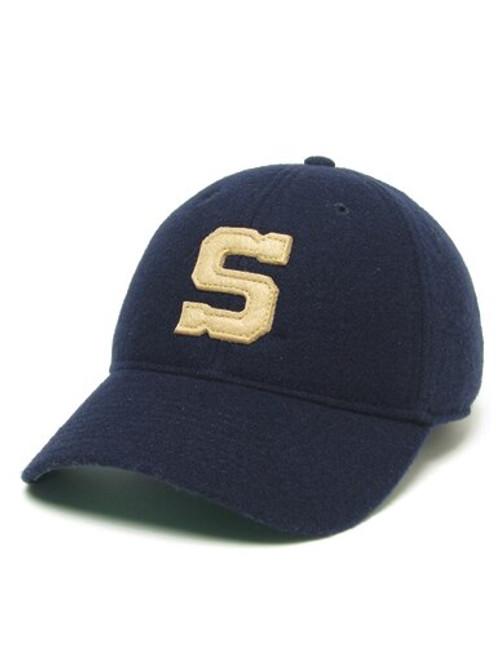 "Legacy Penn State ""S"" Hat Navy Vintage Wool Flannel"