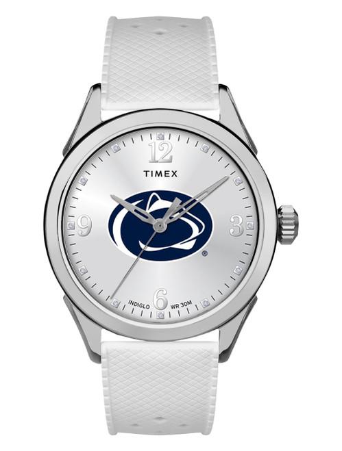 Penn State Watch Silver White Timex Athena