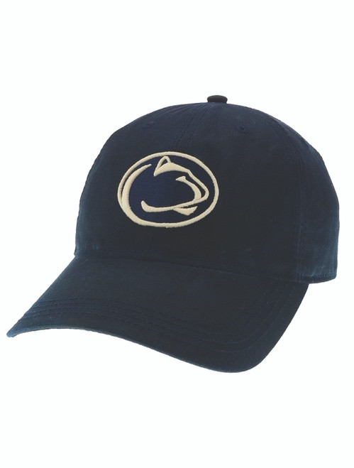 Penn State Nittany Lion Logo Waxed Cotton Hat- Navy