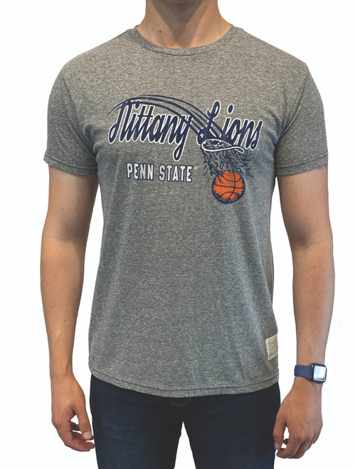 Penn State Basketball Tee T-Shirt Original Retro Brand Heather Grey