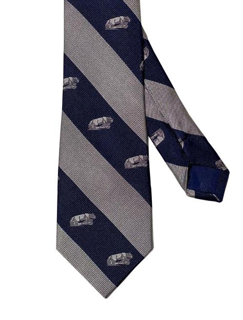 Penn State Navy/Silver Stripe Lion Shrine Silk Tie