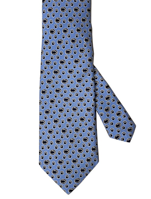 Penn State Nittany Lion & Pawprint Periwinkle Tie by Vineard Vines