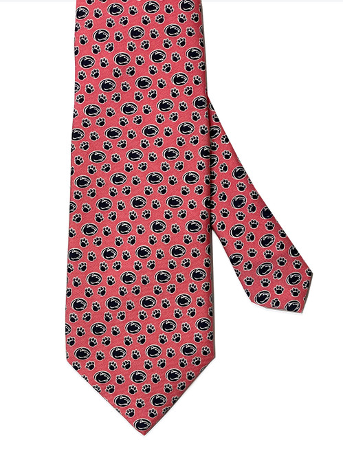 Penn State Nittany Lion & Pawprint Pink Tie by Vineard Vines