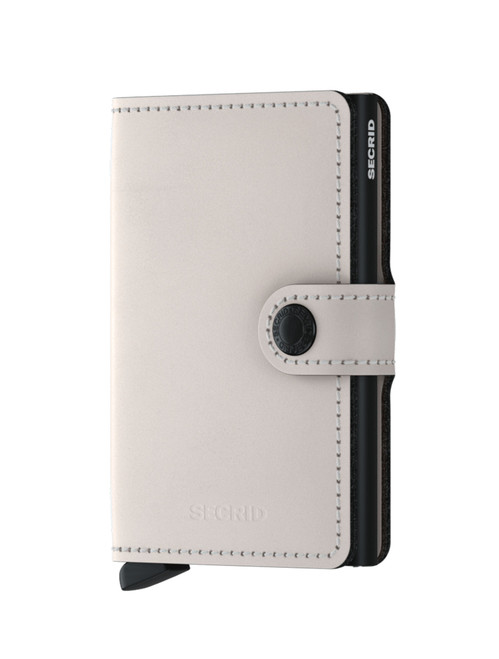 Secrid Holland Leather Matte Miniwallet Chalk White