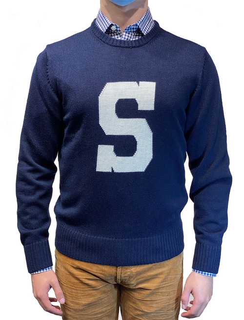 Alan Paine Penn State Varsity S Sweater Navy