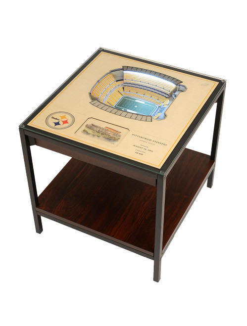 YouTheFan 25 Layer Pittsburgh Steelers Heinz Field Lighted End Table