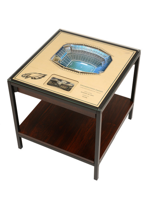YouTheFan 25 Layer Eagles Lincoln Financial Field Lighted End Table