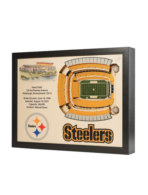 YoutheFan 25 Layer Pittsburgh Steelers Heinz Field 3D Wall Art