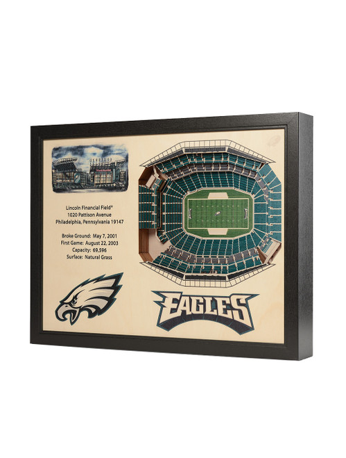 YoutheFan 25 Layer Philadelphia Eagles Lincoln Financial Field 3D Wall Art