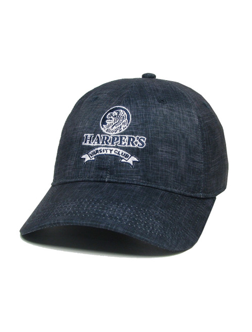 Harper's Varsity Club Hat Legacy REPREVE Eco-Friendly Fabric Navy Chambray
