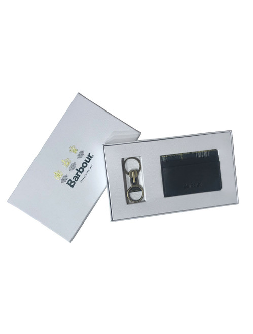 Barbour Keyring & Card Holder Gift Set