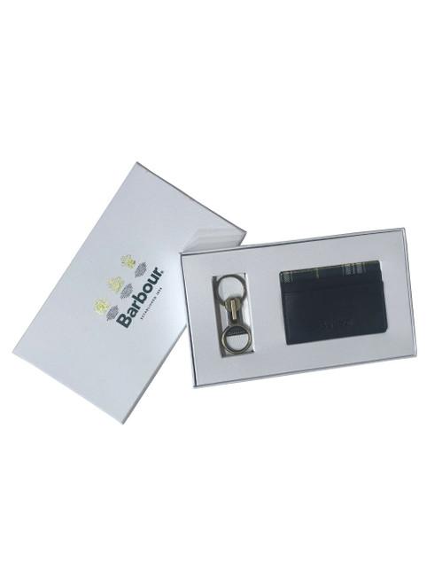 Barbour Keyring & Card Holder Gift Set