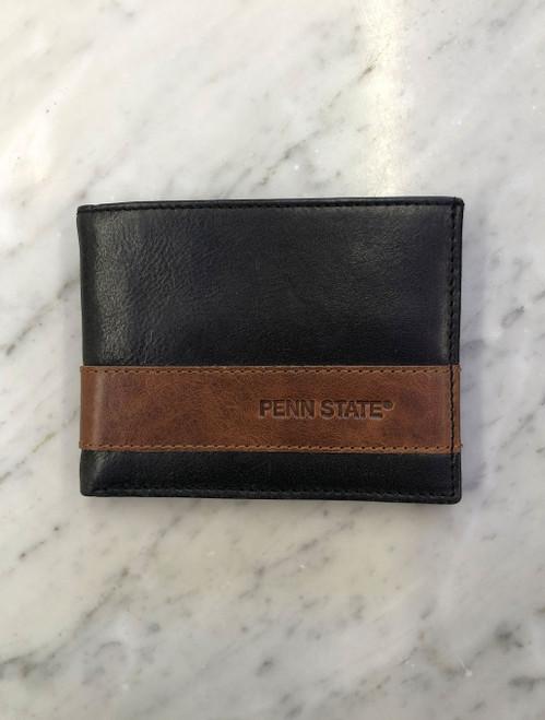 Penn State Wallet Westbridge Two Tone Bifold Black Tan