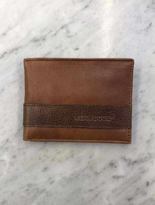 Penn State Wallet Westbridge Two Tone Bifold Cognac Tan