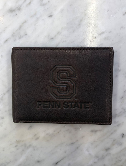 Leather S Logo Penn State Wallet | Cambridge Billfold