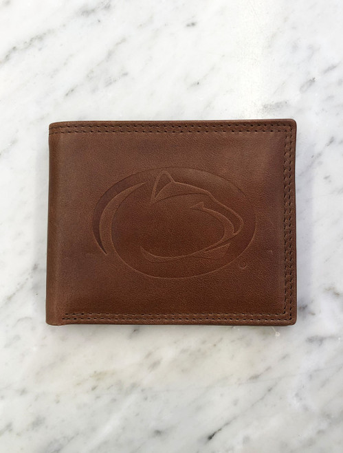 Penn State Wallet Westbridge Tan Leather Bifold