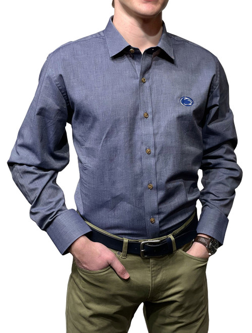 Penn State Chambray Shirt Organic Cotton Indigo Twill