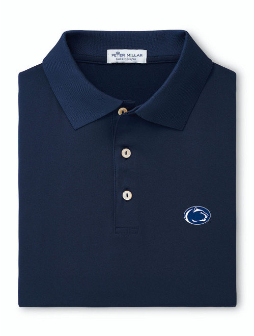 Penn State Polo Navy Peter Millar Performance Jersey
