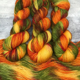 """""""Leaf Peeping"""" Hand Dyed Yarn - Dyed to Order"""