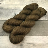 """Age of Bronze"" Hand Dyed Hitchhiker Sock Yarn"