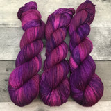 """Pretty in Punk"" Hand Dyed Hitchhiker Sock Yarn"