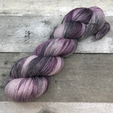 """Purple Zebra"" Hand Dyed Hitchhiker Sock Yarn"