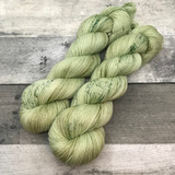 """Sencha Green Tea"" Hand Dyed Hitchhiker Sock Yarn"