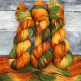 """Leaf Peeping"" Hand Dyed Hitchhiker Sock Yarn"
