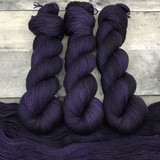 """Shrinking Violet"" Hand Dyed Hitchhiker Sock Yarn"
